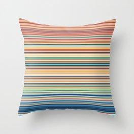 Multicolor horizontal stripes background Throw Pillow