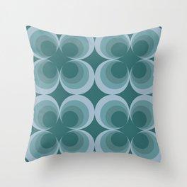 Mint Circles Throw Pillow