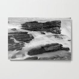 Athabasca Falls long exposure Metal Print