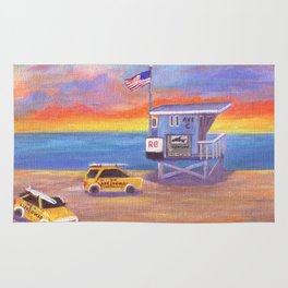 Redondo Beach Lifeguard Tower Rug