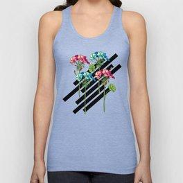 Flowers & Strips Unisex Tank Top
