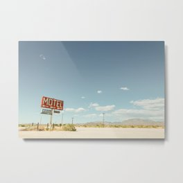 Desert Motel & Pool Sign Metal Print