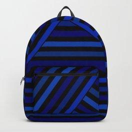 Dark blue striped patchwork Backpack