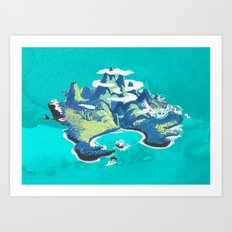 Disney's Peter Pan Neverland Art Print