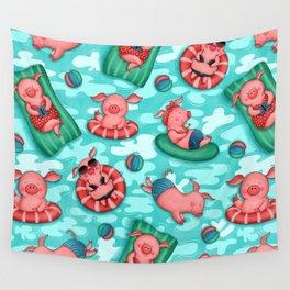 Summer Lovin' Pigs Wall Tapestry