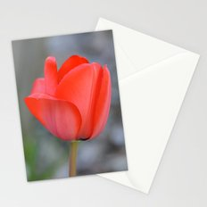 Red Tulip Flower Stationery Cards