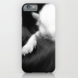 Soft kitty, white kitty. iPhone Case