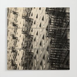 Chicago fire escapes Wood Wall Art