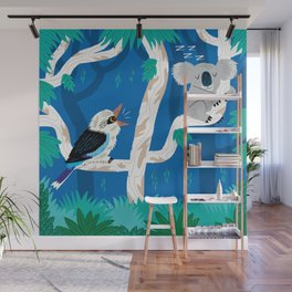 The Koala and the Kookaburra Wall Mural