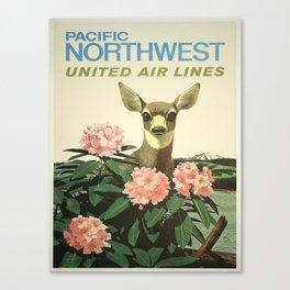 Vintage poster - Pacific Northwest Canvas Print