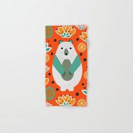 Bear in a floral spring garden Hand & Bath Towel