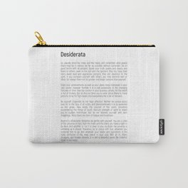 Desiderata #minimalism Carry-All Pouch