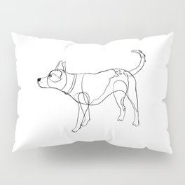 Minimalist line art drawing of Year of the Dog Pillow Sham
