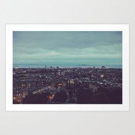 Edinburgh - Night Art Print