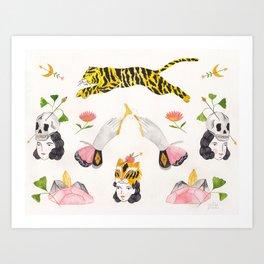Les Tigres Art Print