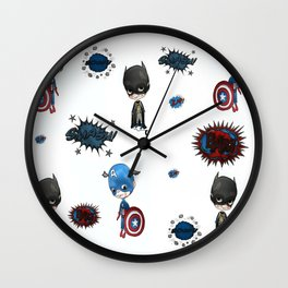 Super cute super heroes Wall Clock