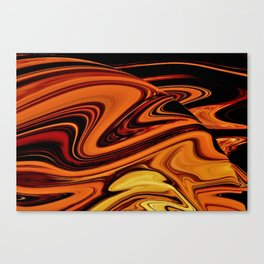 Red Lava in a Black Abyss Canvas Print