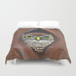 Peek a Boo Owl Duvet Cover
