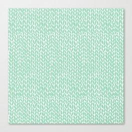 Hand Knit Mint Canvas Print