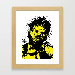 August 18, 1973: Bloodstain Leatherface (color combination C) Framed Art Print
