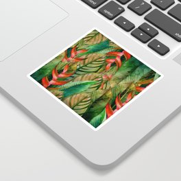 Painted Jungle Leaves 2 Sticker