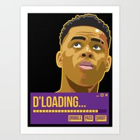 lakers Art Prints featuring d'loading by dmrz