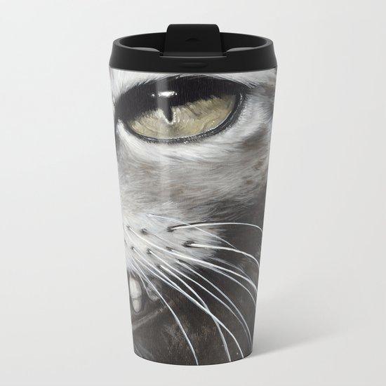 Le chat Metal Travel Mug