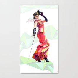 Polygone lady 2 Canvas Print