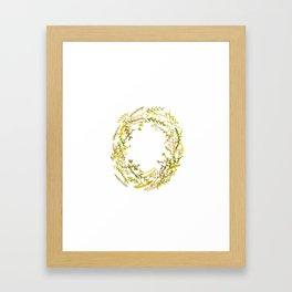 Autumn wreath Framed Art Print
