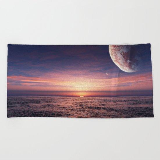 Ocean pastel Beach Towel