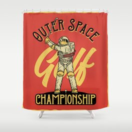 Outer Space Golf Championship Shower Curtain