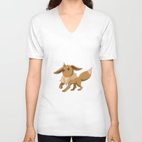 eevee V-neck T-shirts featuring Pkmn #133: Eevee by Michelle Rakar