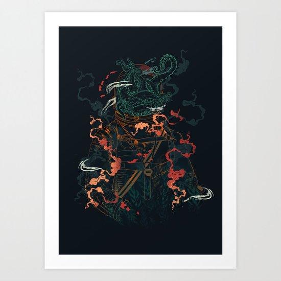 Space Diver Art Print