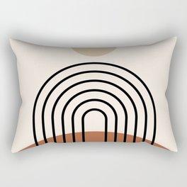 Abstraction_SUN_LINE_BOHEMIAN_LANDSCAPE_POP_ART_1129B Rectangular Pillow