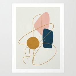 Minimal Abstract Shapes No.46 Art Print