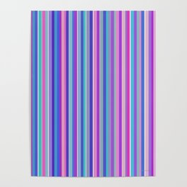 Simple colorful stripes Poster