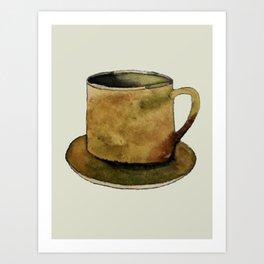 Mug on Plate Art Print