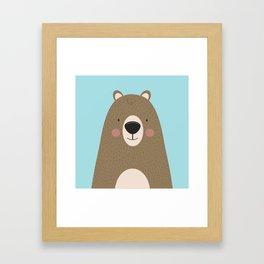 Bears Are Friendly Framed Art Print
