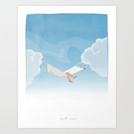 Sleeping in the Clouds Art Print