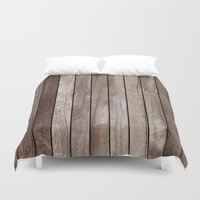 wooden Duvet Covers featuring Wooden Texture by Patterns and Textures