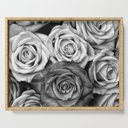 The Roses (Black and White) Serving Tray