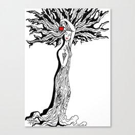 Ladytree Canvas Print