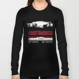 Chattanooga Coordinates Shirts Tennessee Gifts Long Sleeve T-shirt