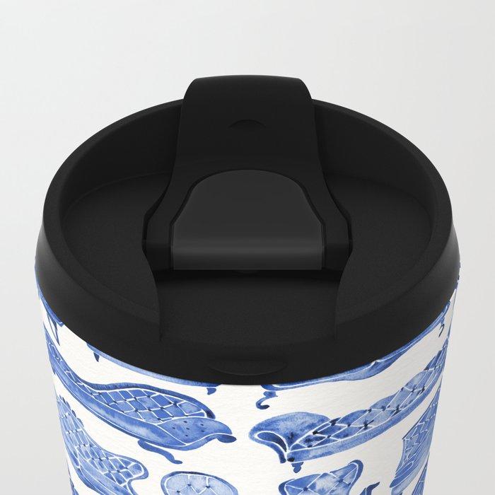 Victorian Lounge – Navy Palette Metal Travel Mug