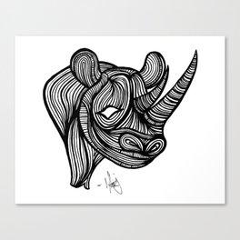 The Rhino Canvas Print