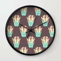 kobe Wall Clocks featuring Kobe Avonia by Jasmine Smith
