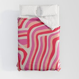 pink zebra stripes Duvet Cover