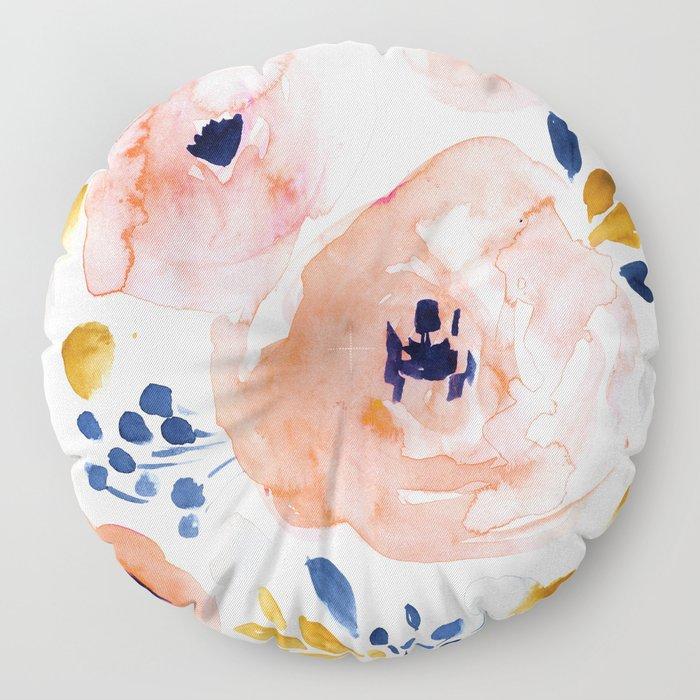 Genevieve Floral Floor Pillow