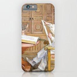 Self-portrait, In The New Studio - Carl Larsson iPhone Case