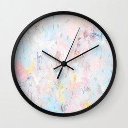Afternoon nap_Pink abstract painting Wall Clock